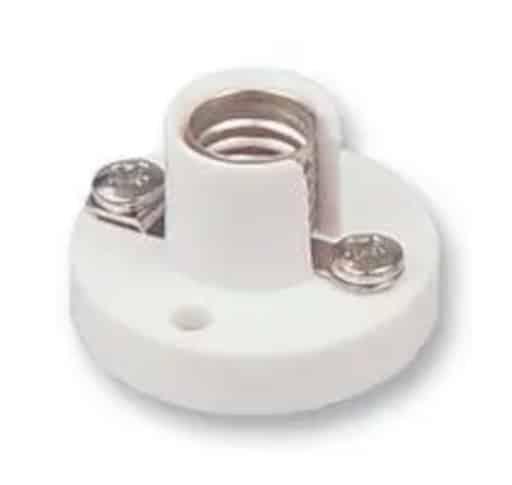 MES Bulb Holder In White